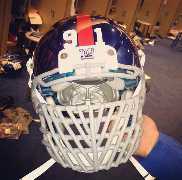 New Justin Tuck Facemask