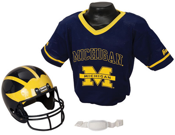 NCAA Football Helmet and Jersey Sets