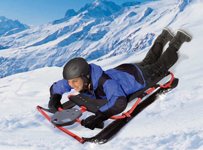 Riding the Wham-O Fantom X Sled