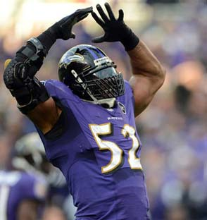 Ray Lewis Custom Facemask