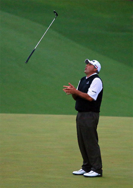 Angel Cabrera Tosses Club