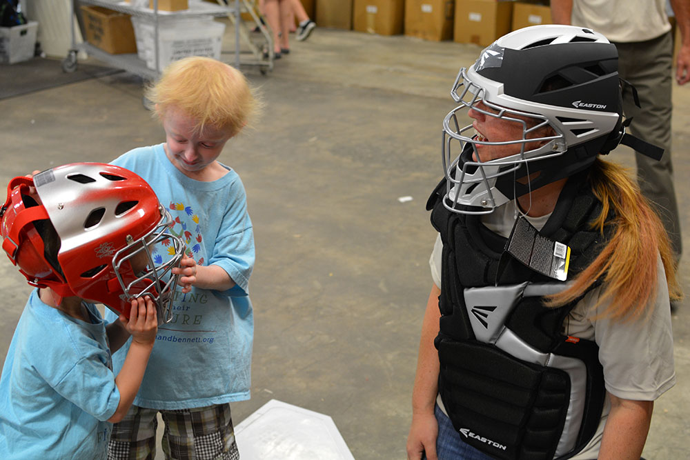 The boys with Catcher's Gear