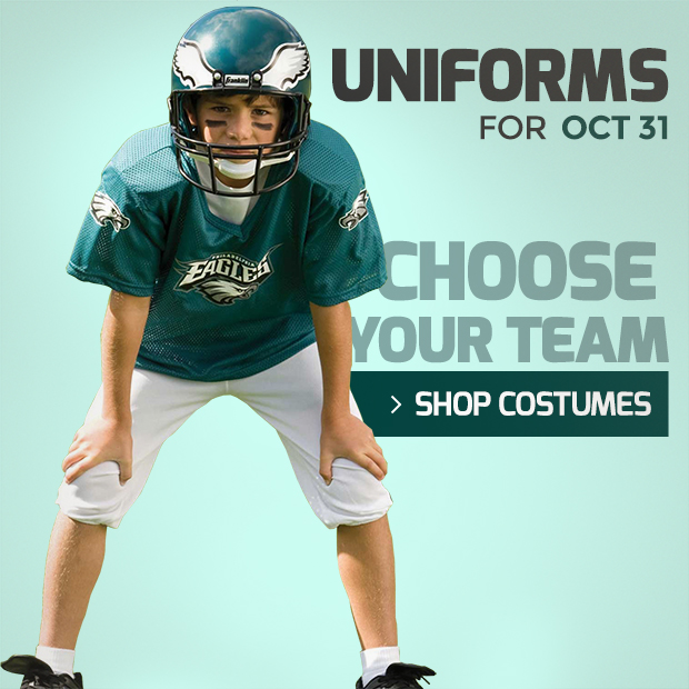 Kids NFL Uniform Costumes for Halloween