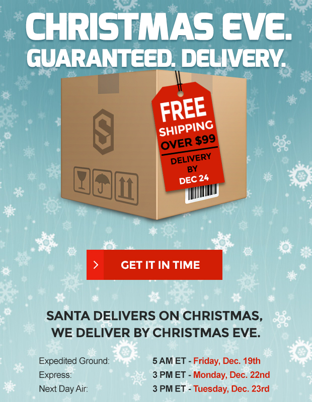 Guaranteed Christmas Eve Delivery