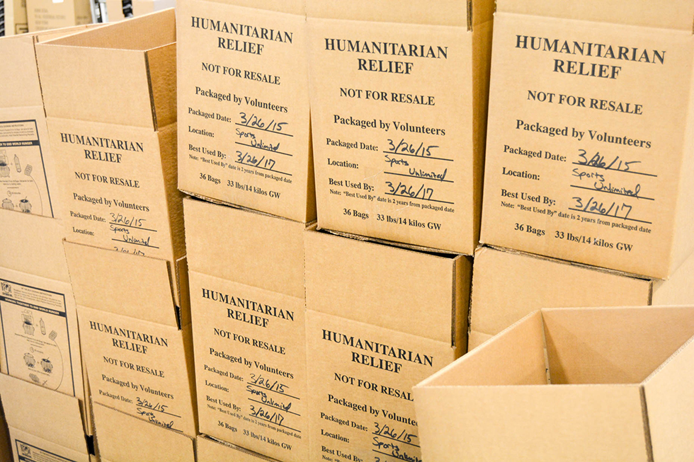 stop hunger now boxes sports unlimited